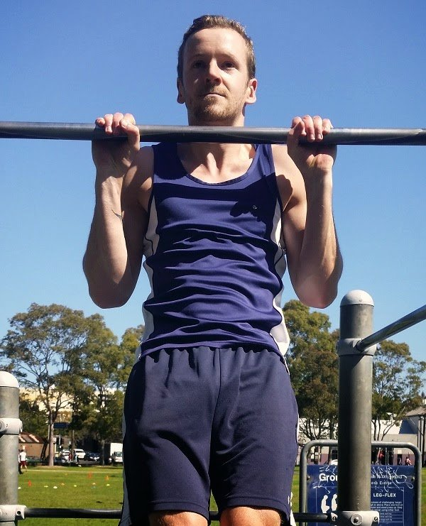 Dave Mace demonstrates a pull-up