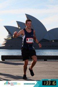 Dave Mace during the Blackmores Half Marathon in Sydney