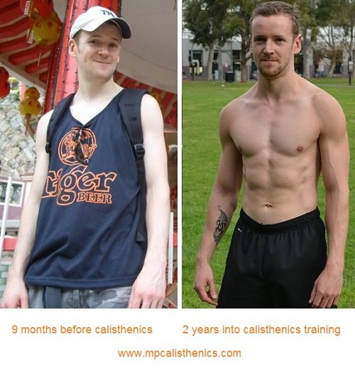 Calisthenics Before and After Dave Mace