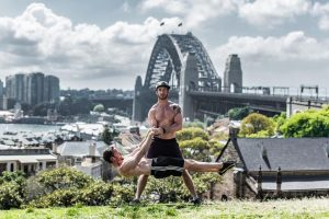 Dave and Nathan Front Lever Sydney